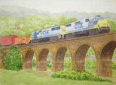 Last Train CSX Viaduct Belmont County
