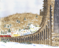 Unstoppable Christmas Train Trestle